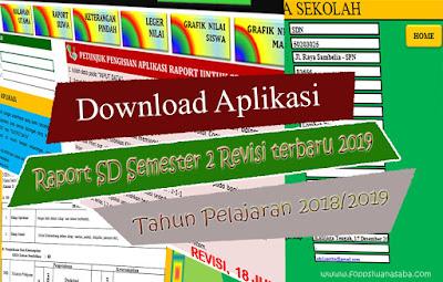 Aplikasi raport K13 sd semester 2 Revisi 2019