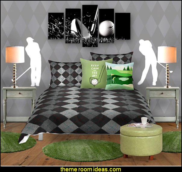 golf bedroom golf bedding golf wall decorations