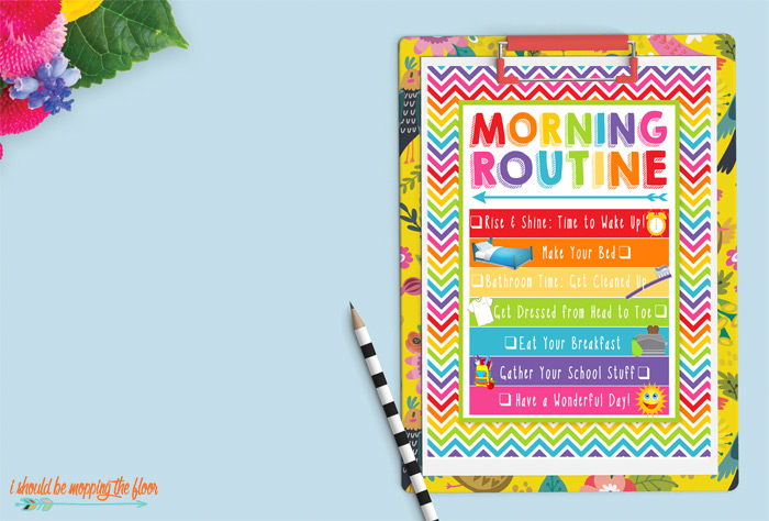 Morning Routine Printable with Check Boxes