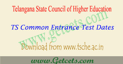 TS Cets Schedule 2018-2019, tsche common entrance test dates Telangana