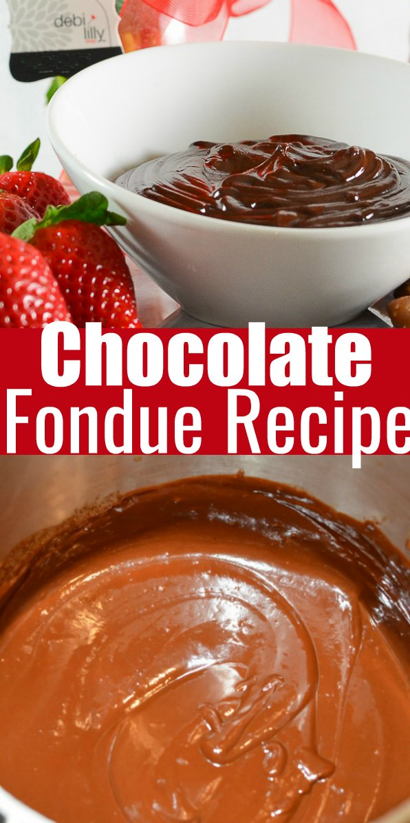 Chocolate Fondue is delicious for Valentines Day or Easter. It has a thick fudge like consistency making it perfect for dipping all your favorite goodies from Serena Bakes Simply From Scratch.