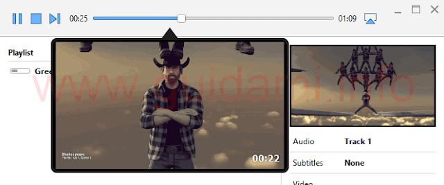 Airflow anteprima scena barra riproduzione