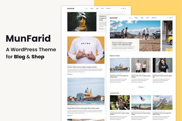 Download Gratis Munfarid - A WordPress Theme For Blog & Shop