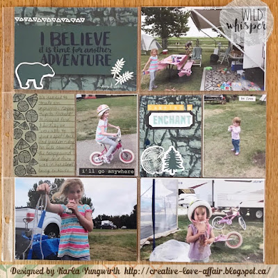 pocket page scrapbooking, project life, wild whisper, adventure, camping, memory keeping, scrapbooking, sequins, embossing, stamping, ephemera, journaling cards, enchant