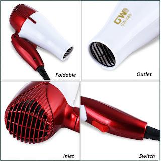 GUOWEI Portable Traveller Compact Blower Hair Dryer