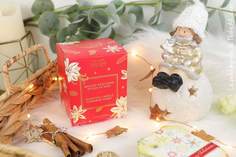 bougie parfumée Epices de Noël Panier des sens