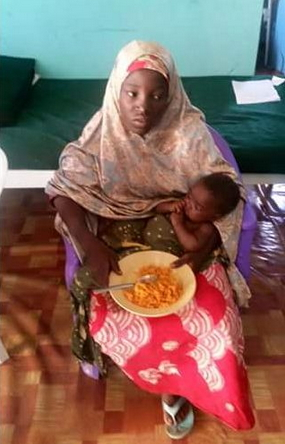 chibok girl rescued inside sambisa forest