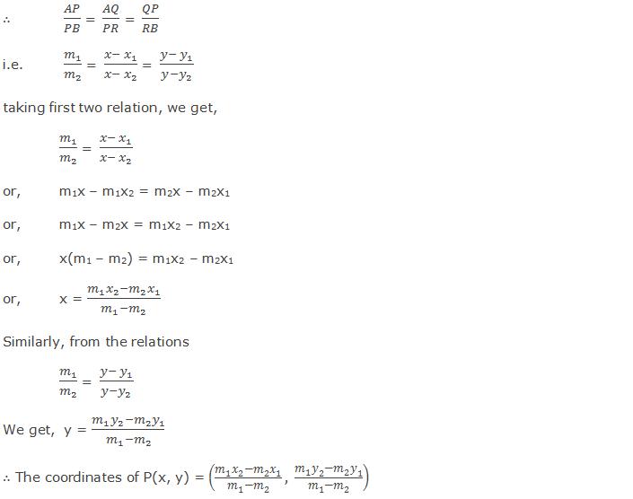 Section formula for external division