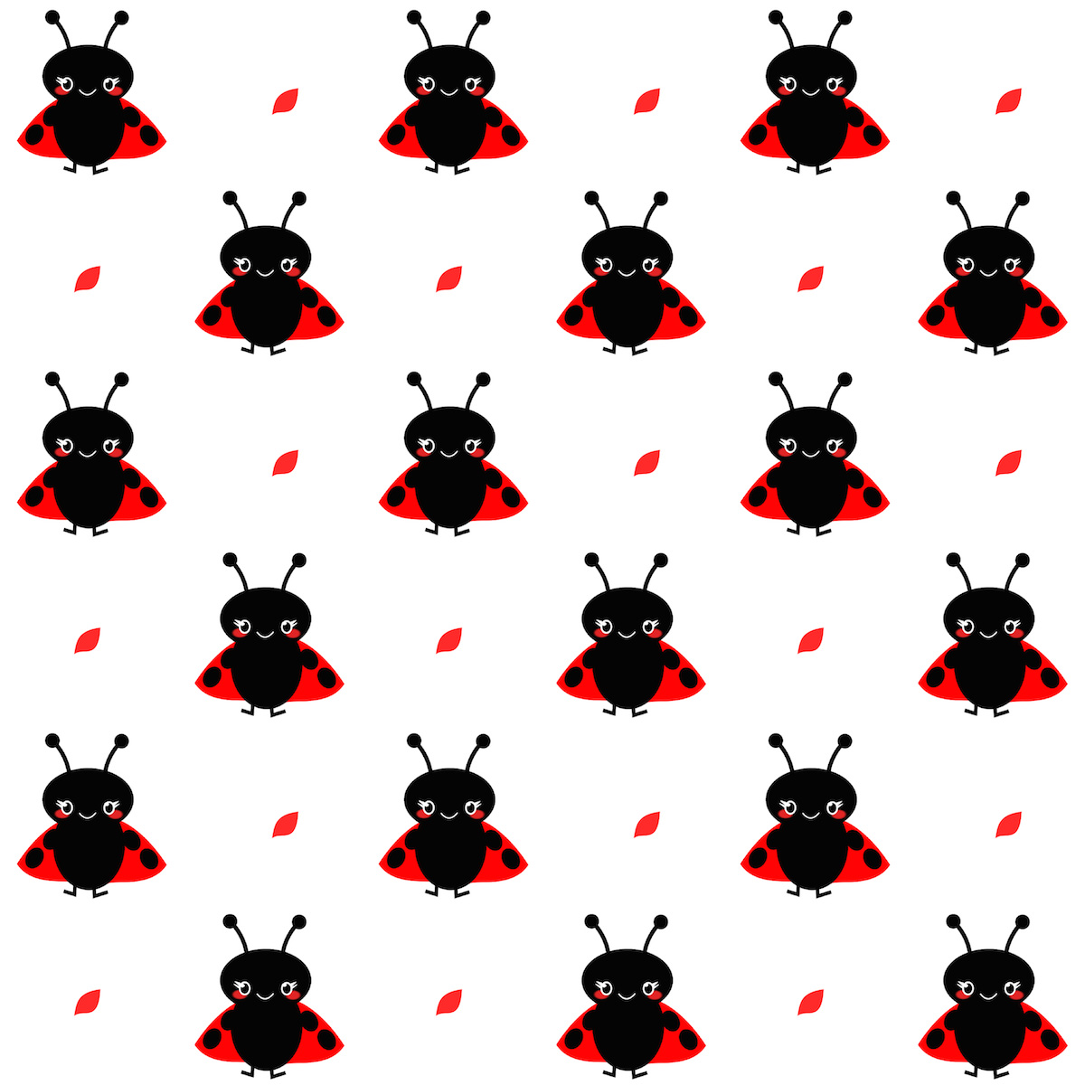 Free Digital Baby Ladybug Scrapbooking Paper