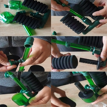 DIY Double Bio Sponge Filter Setup
