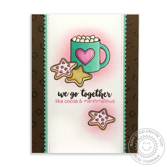 Sunny Studio Stamps: Mug Hugs Hot Cocoa & Marshmallows Card by Mendi Yoshikawa