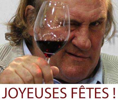 Gérard Depardieu vous souhaite de bonnes fêtes