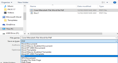 Cara Merubah File Word Ke Pdf Tanpa Menggunakan AplikasiTambahan