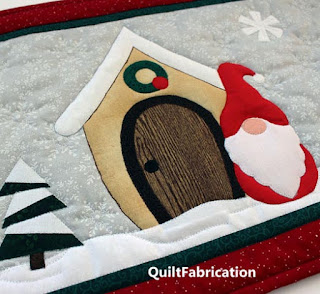 GNOME FOR THE HOLIDAYS-GNOME QUILT-QUILT PATTERN-TABLE RUNNER-CHRISTMAS QUILT