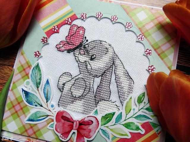 Zwierzęca wymianka kartkowa - króliki
