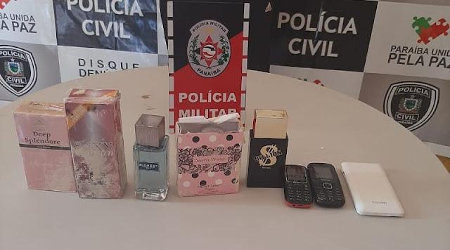 Polícia Militar prende suspeito de arrombar comércio na cidade de Jericó