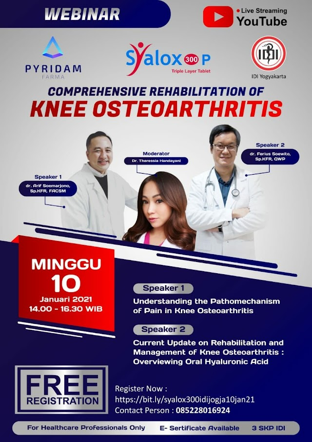 "Webinar *""Comprehensive Rehabilitation of Knee Osteoarthritis""*"