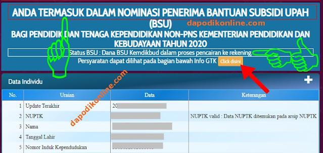 Cara Jitu Login Info GTK untuk Cek Daftar Nominasi Penerima BSU, Nomor SK BSU, dan Status Pencairan Bantuan Subsidi Upah Bagi PTK/GTK Non-PNS