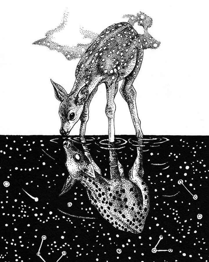 03-Deer-and-the-constellations-Ashley-Habernal-www-designstack-co