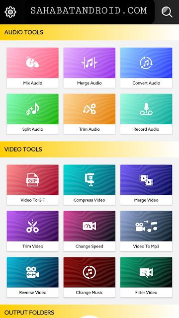 Fitur Tools Editing VideoAdking Mod PRo APK