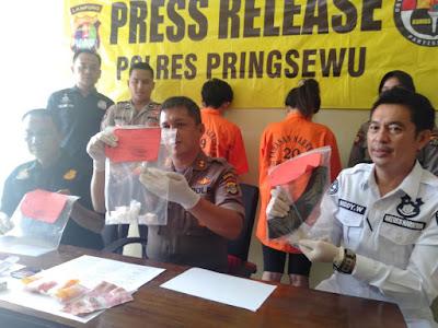 Satres Narkoba Polres Pringsewu Sita 35 Gram Sabu Dari Sepasang Kekasih Bandar Narkoba