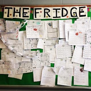 Displaying Student Work on the Fridge