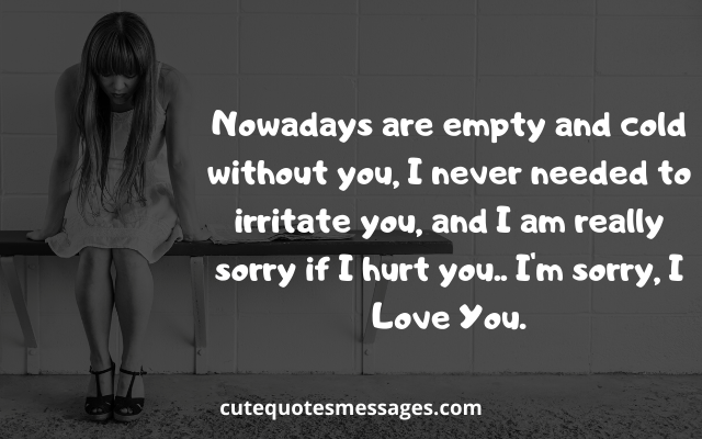 Text sorry messages love I am