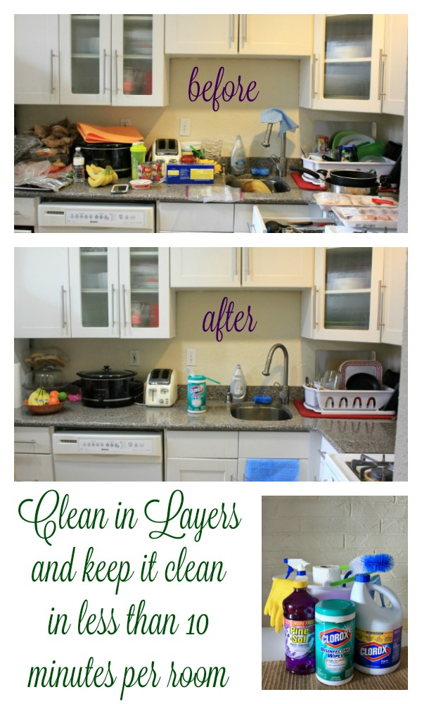 Clean your home the way your mama used to (or at least the way my Cuban mama did). Clean a room in layers, in less than 10 minutes and keep it clean with these cleaning tips and tricks. #LimpiaTotal #ad