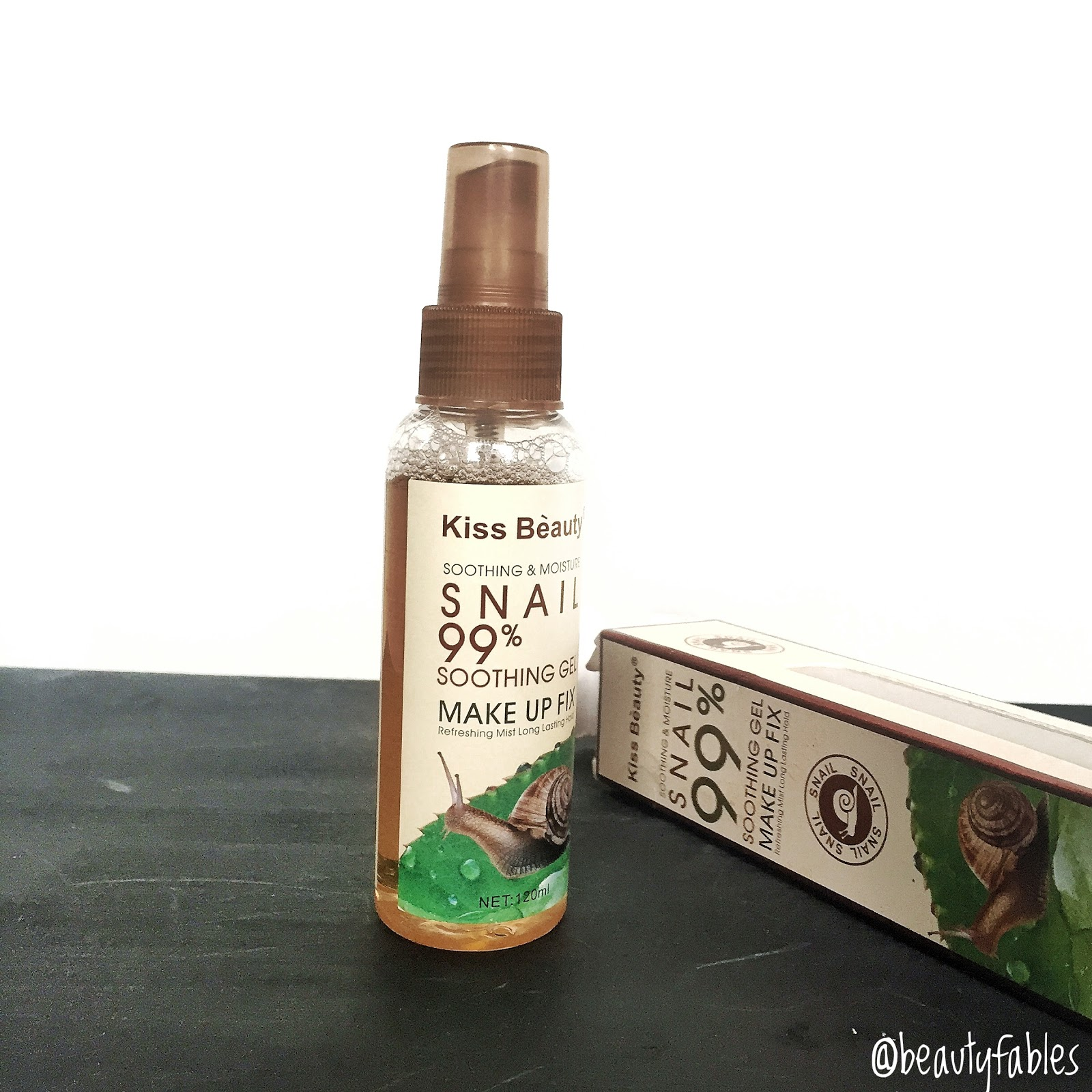Review of kiss beauty make up fix spray with snail extract and why i stopped using it
