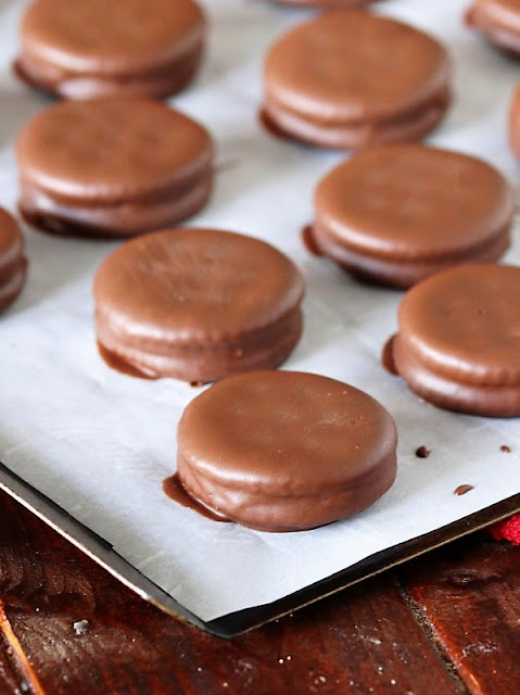 Chocolate Covered Ritz Crackers with Peanut Butter Image