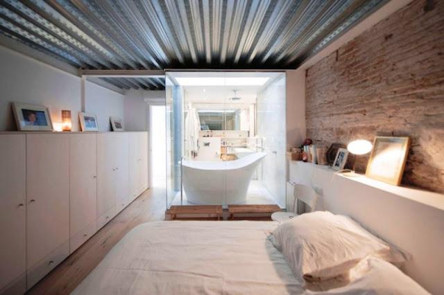 dormitorio con baño abierto chicanddeco