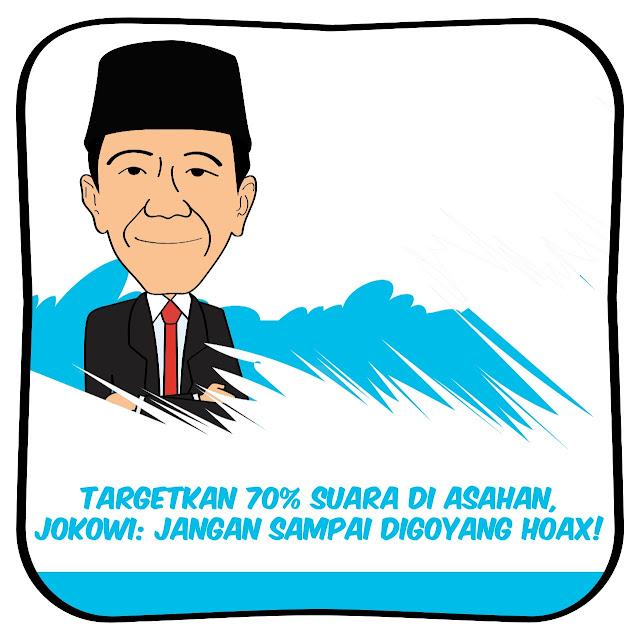 Targetkan 70% Suara di Asahan, Jokowi: Jangan Sampai Digoyang Hoax!