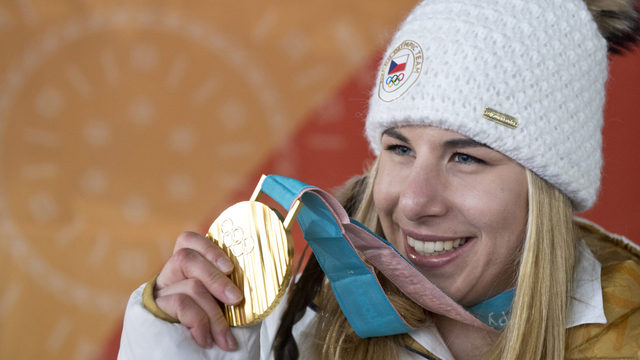 Ester Ledecká a medaile