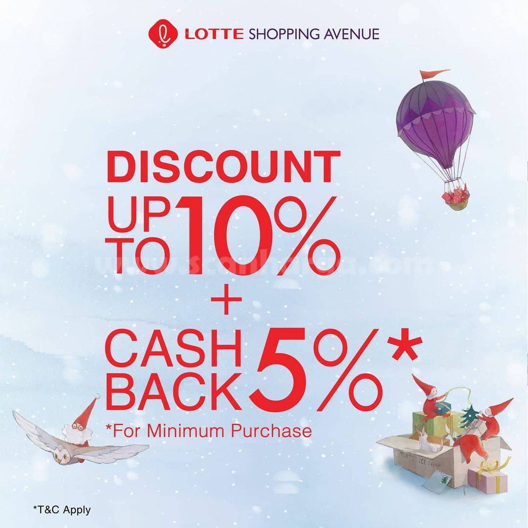 LOTTE AVENUE Christmas Cosmetic Deals – Disc up to 10% + 5% Cashback