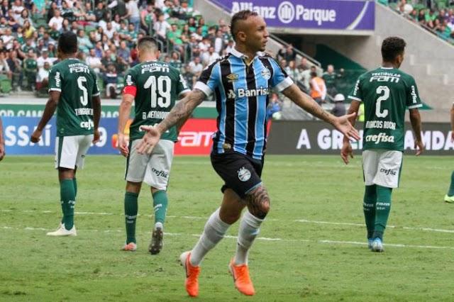 Tricolor na Libertadores e Flamengo campeão brasileiro: Grêmio vence o Palmeiras