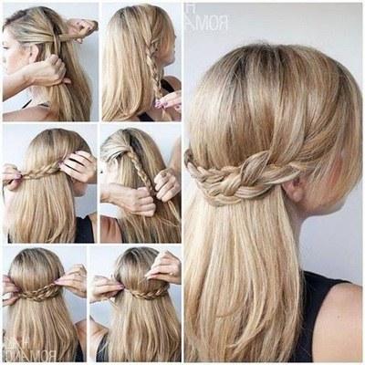 Cara Membuat Kepang Milkmaid Crown Mahkota Tutorial Menata - Gaya rambut pendek kepang