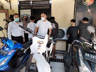 Bubarkan Balap Liar, Polresta Mataram Amankan Pengumpul Uang Taruhan
