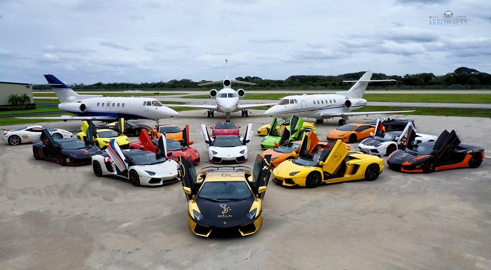 Một số siêu xe đại diện nổi bật của Gia Lai Team, bao gồm cả phi cơ