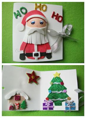 Tarjeta navideña en goma eva