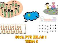Soal PTS Tema 5 Kelas 1 Sub Tema 1 & 2 K13 dan Kunci Jawaban