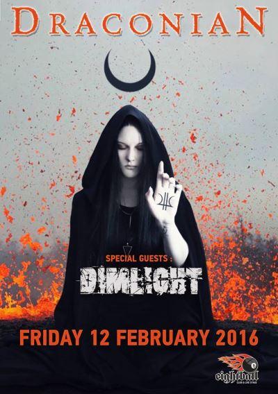 DRACONIAN: Οι DIMLIGHT ανοίγουν το live τους στο Eightball