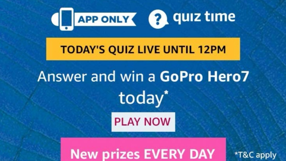 Quiz Deals Cash: Amazon Quiz Today, Amazon Quiz Answer Today