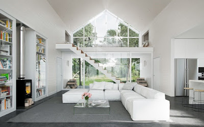 Double Height Living Room-Natural View