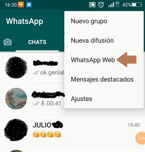 Poner Whatsapp en el ordenador