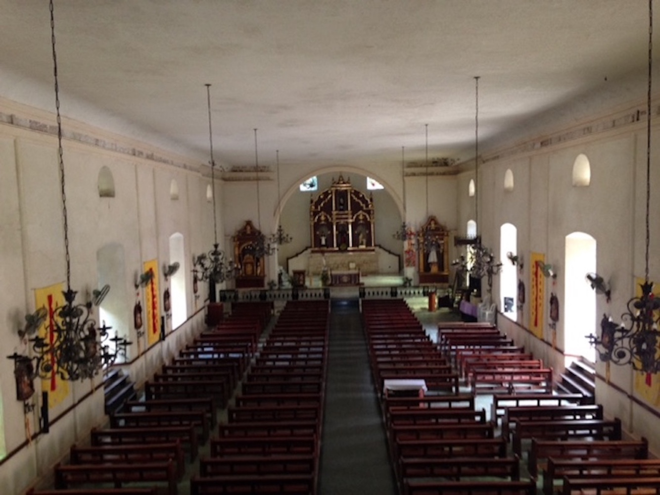 Interior San Andres Church also known as Masinloc Church in Zambales