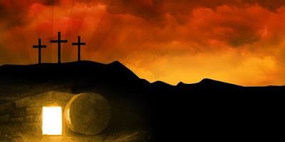 imagem do tumulo de Jesus aberto
