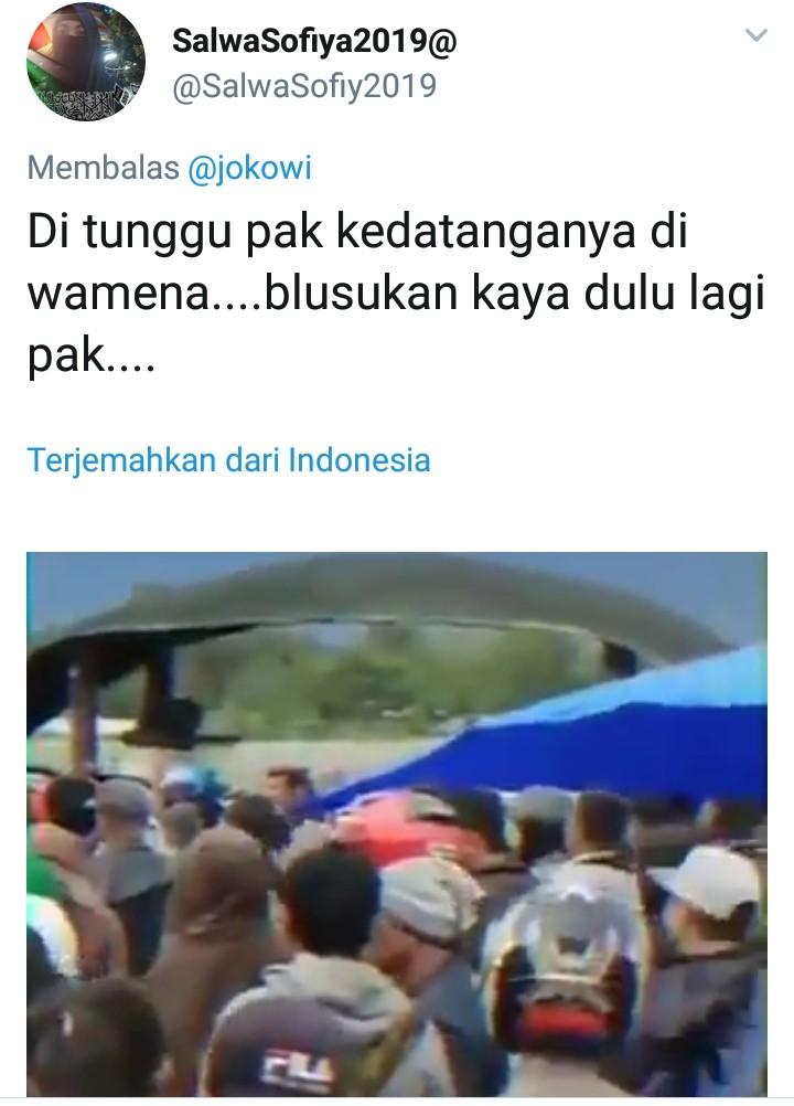 Presiden Minta Masyarakat Tidak Tinggalkan Wamena, Netizen: Ditunggu Kedatangannya, Pak!