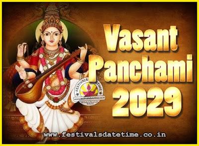 2029 Vasant Panchami Puja Date & Time, 2029 Vasant Panchami Calendar