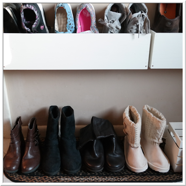 Reorganizing Shoe Area - Easy DIY Project  |  3 Garnets & 2 Sapphires