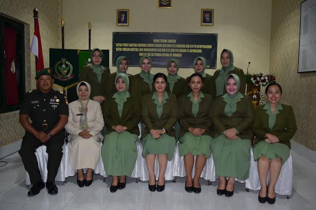 Ketua Persit KCK Cab XLIV Sekarang Dijabat Ny Lilik Minarso